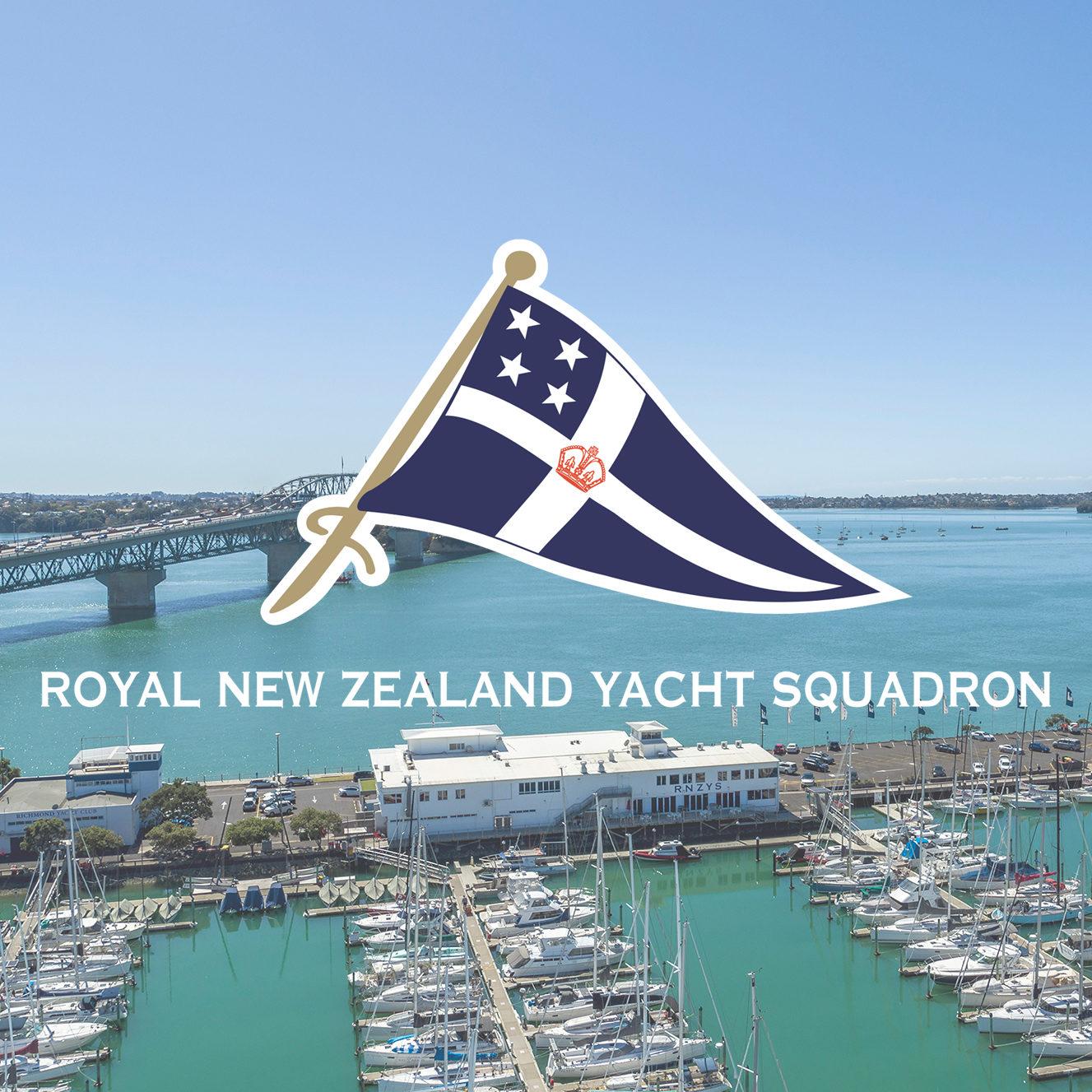 Royal New Zealand Yacht Squadron Logo on Westhaven Marina